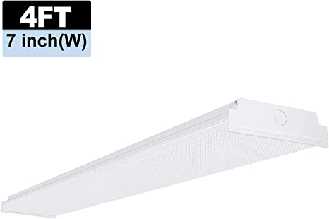 Wraparound Shop Garage Utility Fluorescent Ceiling Lamp Lighting Fixture 4 ft