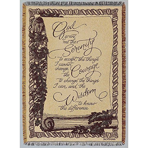 Dicksons Serenity Prayer Scroll on Beige 46 x 68 All Cotton