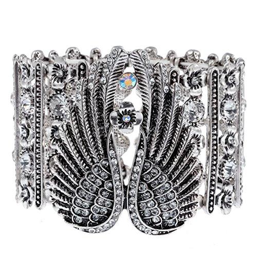 Hiddlston Crystal Guardian Angel Wing Jewelry Custom Stretch Arm Sleeve Cuff Bracelet Chain For Women Teen Girls