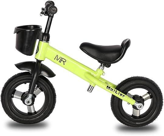 Xiaoping Equilibrar La Bicicleta, Sin Pedales Equilibrio Bicicleta para Niños Pequeños con Asiento Y Manubrios Ajustables, Ligero Caminar A Trancos En Bicicleta para Niños, Edades de 2 A 6 Años Verde: Amazon.es: