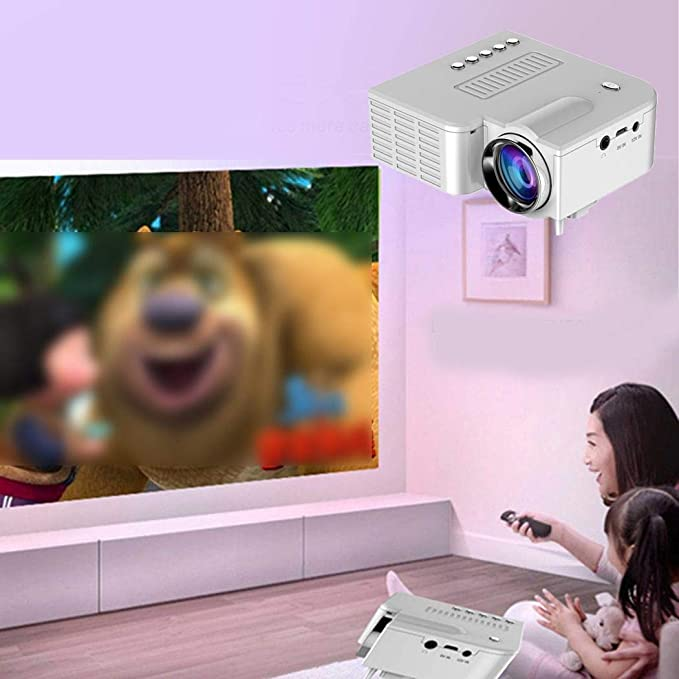 Jintes Mini Proyector LED Portátil 1080P Multimedia Cine ...