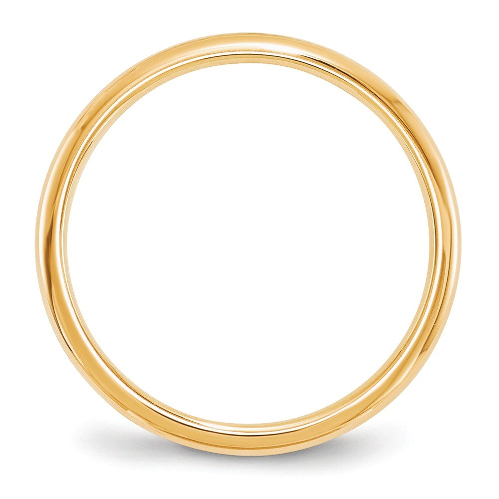 14K Yellow Gold 2mm Standard Comfort Fit Band Ring