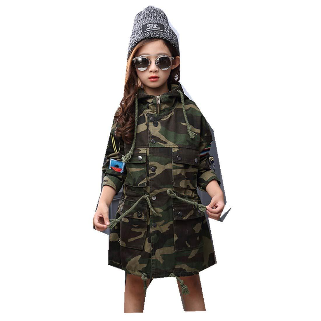 MV Spring Autumn Childrens Clothing Korean Waist Long Camouflage Clothing Outside