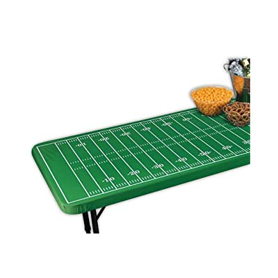 Amscan Fitted Football Field Table Cover, Multicolor: Toys & Games [5Bkhe1901083]