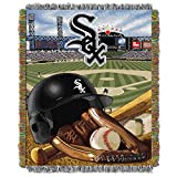 "The Northwest Company MLB Chicago White Sox Home Field Advantage Woven Tapestry Throw, 48"" x 60"""