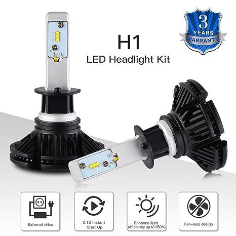Kit de bombillas LED H1 para faros de H2racing, Lumileds Zes de 2º Generación, bombillas de ...