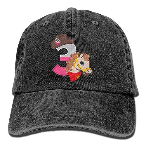 Uanqunan Cowgirl Number Unisex Cotton Denim Baseball Cap Adjustable Strap Low Profile Plain Hats Black (Denim And Diamonds Outfit Ideas)