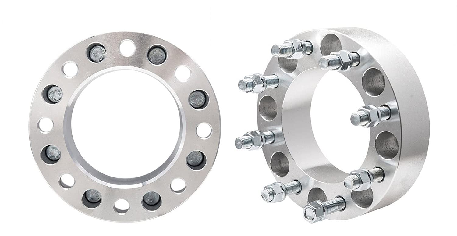 2pcs 1.25' Thickness 8x6.5 To 8x6.5 Wheel Spacers Adapters 8 Lug for Dodge Ram Ford F-250 F-350 Demotor
