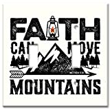 Art Plates Brand Double Gang Toggle OVERSIZE Switch/OVER SIZE Wall Plate - Faith Can Move Mountains