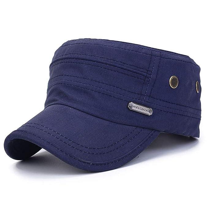 93bdfce640f12 Teresamoon Unisex Military Hats Sailor Caps Women Cotton Berets Solid Cap  Sun Hat  Home   Kitchen