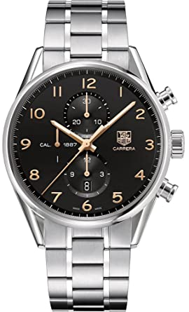6ba9705049f Image Unavailable. Image not available for. Color: Mens Tag Heuer Carrera  Calibre 1887 Automatic Chronograph ...