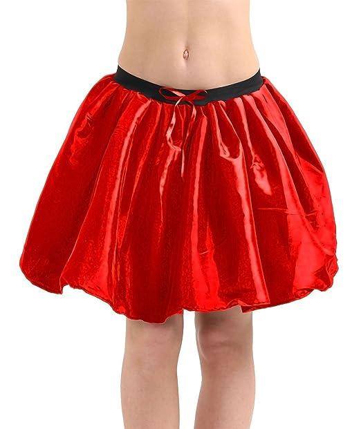 "Ladies Satin 3 Layers Halloween Fancy Dress Hen Night Party 18/"" Long Tutu Skirt"