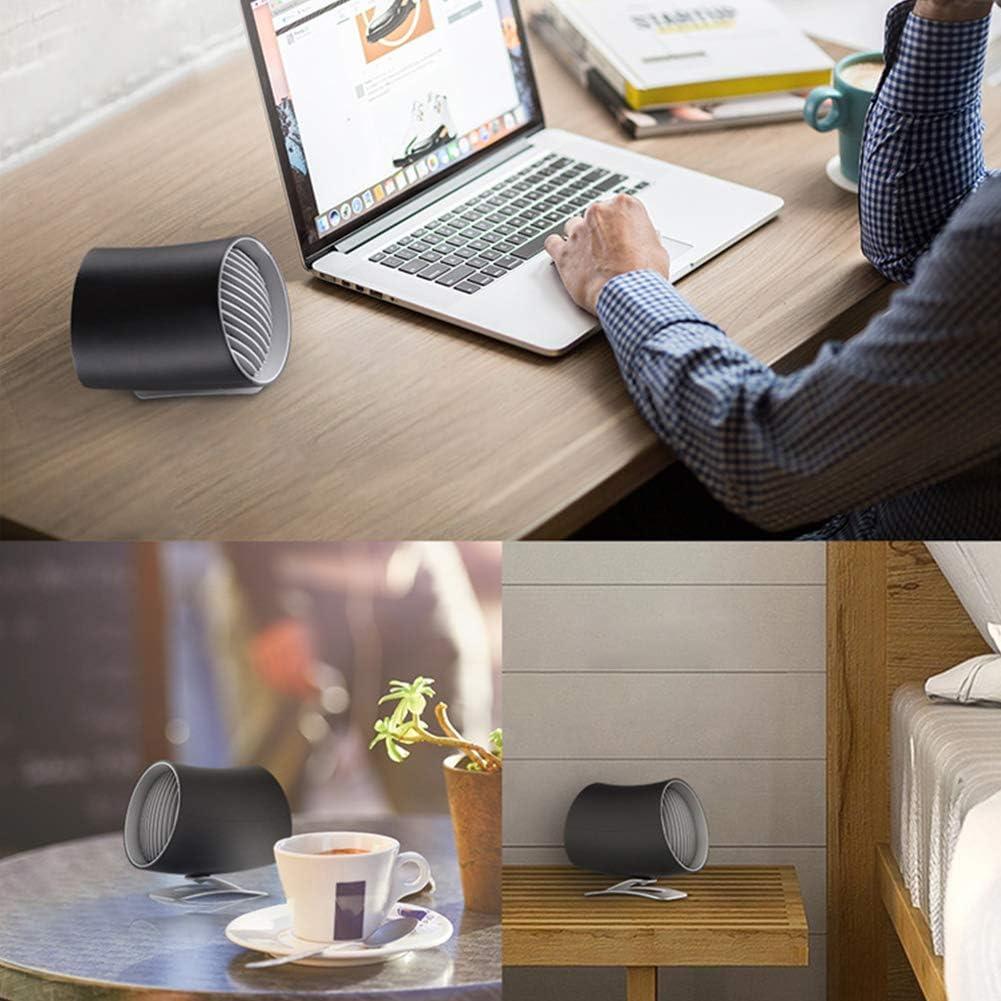 xinYxzR Summer Portable Home Office Car Quiet Mini USB Cooling Fan Desktop Air Cooler Black
