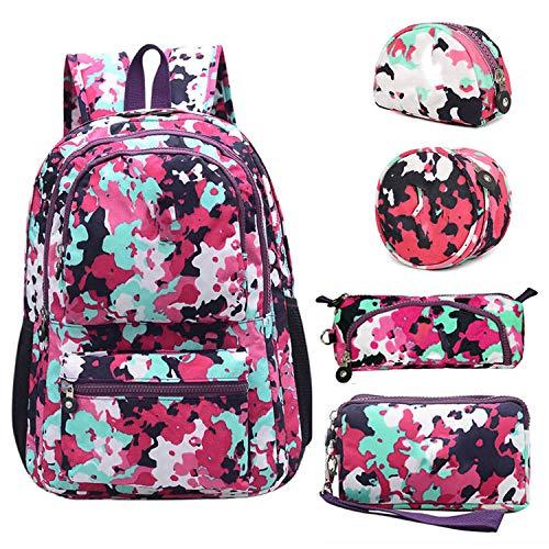 Casual Original Bolsa School Backpack for Teenage Girl Wateroof Nylon Laptop with Keychain,Gray