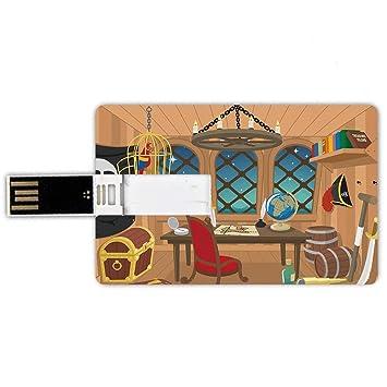 8GB Forma de tarjeta de crédito de unidades flash USB Pirata ...