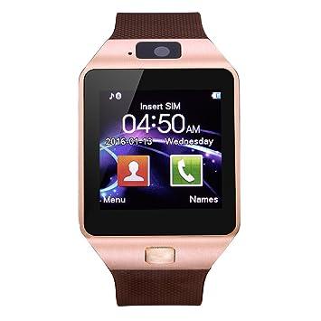 kxcd Bluetooth inteligente reloj DZ09 reloj inteligente GSM SIM Tarjeta con cámara para Android IOS.: Amazon.es: Relojes