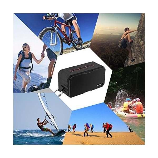 Enceinte Bluetooth Haut Parleur Bluetooth Waterproof Sans Fil Portable - Deepow 10W Enceinte Bluetooth Speaker Puissante étanche IP67 3000mAh Compatible Android iPhone TV et Autres Appareils Bluetooth 7