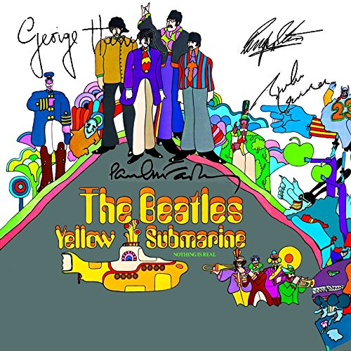 The Beatles Signed Autographed Yellow Submarine Record Album Cover LP Autographed Signed Facsimile (Autographed Beatles)