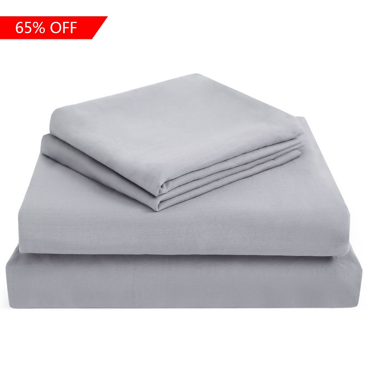 ASHENGVER Microfiber Fitted Bed Sheet Sets Extra Soft Bed Sheets Set - Dark Gray Twin Fitted Sheet Sets-(1 Flat Sheet, 1 Fitted Sheet With Deep Pocket, 1 Pillowcase)