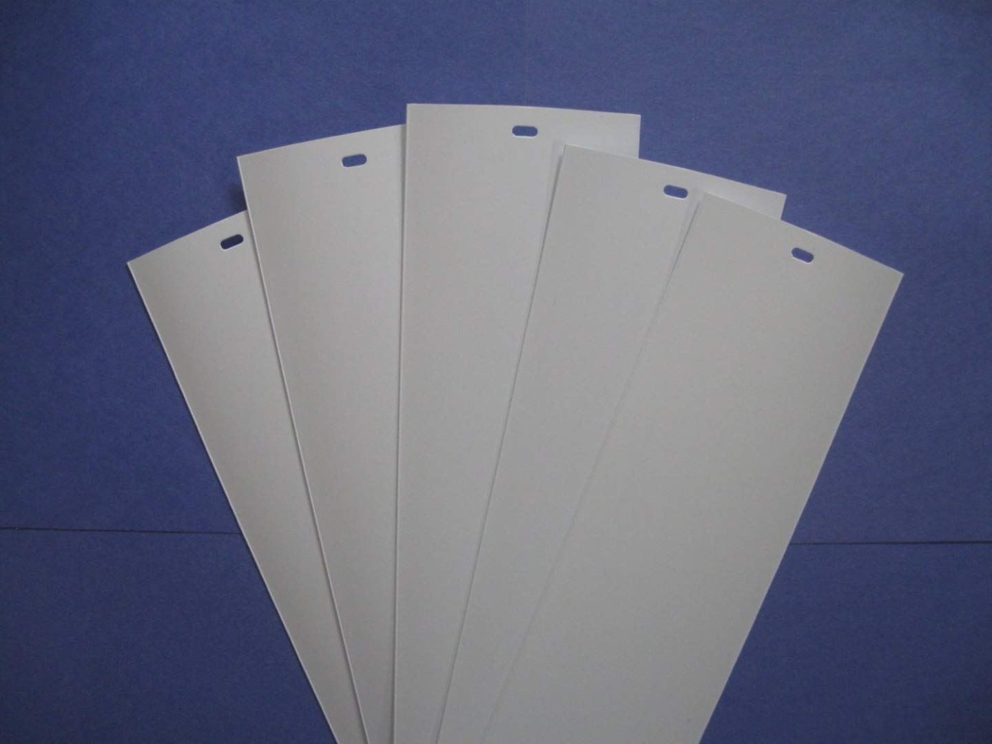 PVC Vertical Blind Replacement Slat (White) 5 Pk 82 1/2 X 3 1/2 Amazing Drapery Hardware