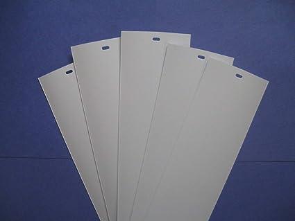 Superieur PVC Vertical Blind Replacement Slat (White) 5 Pk 82 1/2 X 3