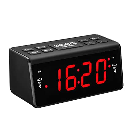 Radio Despertador Digital, Pictek [2018 Nuevo] 3 en 1 Reloj Digital con Radio