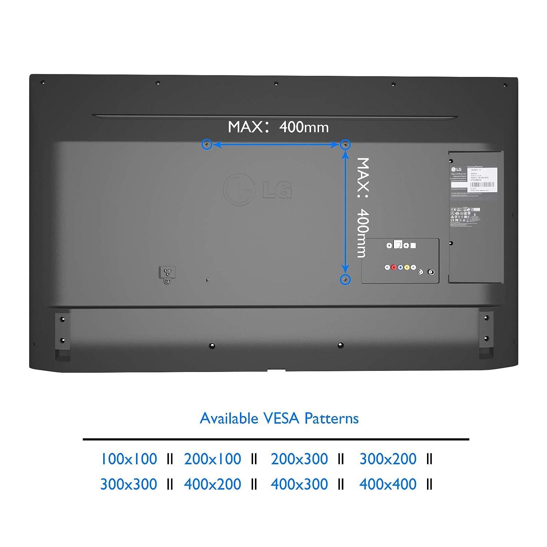 1home Supporto TV a sbalzo con vetro temperato staffa rotante per plasma LED LCD 26-50