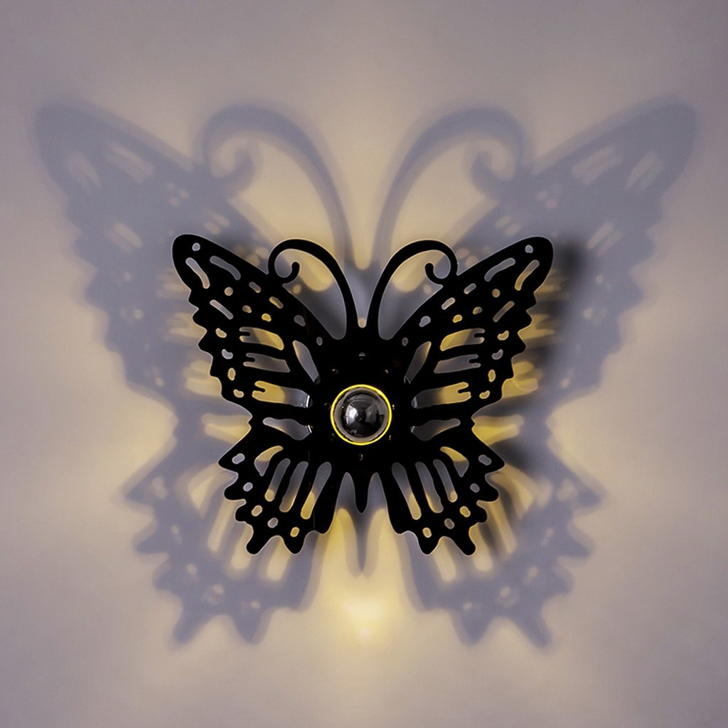 Edge To Wall lamp Black, Nordic American country minimalist modern living room bedroom creative arts cafe butterfly Movies Wall
