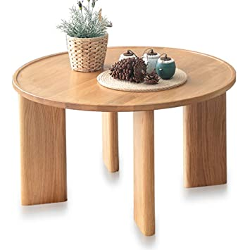 Amazon Com Yi Kui Side Table Nordic Wooden Round Coffee Table