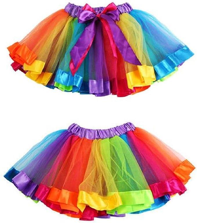 Bebés niñas Chicas Iris Falda bowknot vestido tutú de baile ...