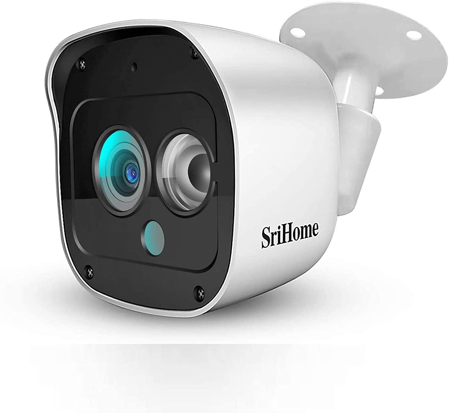 SriHome Outdoor Security Camera, 2304 x 1296Pixel IP Camerawith Motion Detection and 10m Night Vision Mode, Support Two-Way Audio andReal-time Monitor, IP66 Waterproof