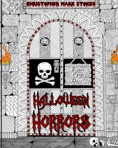 Halloween Horrors Adult Coloring Book A Colorful Spooky Adventure Stress Relieving