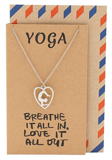 Amazon.com: Quan Jewelry – Collar de yoga, meditación Collar ...