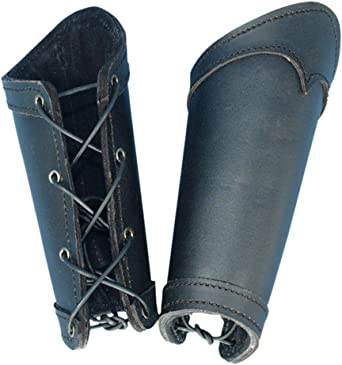 Leather Band Adjustable Leather Cuff Black Leather Cuff 1 pair Black Bracers Custom to You Leather Bracers Eagle Bracers