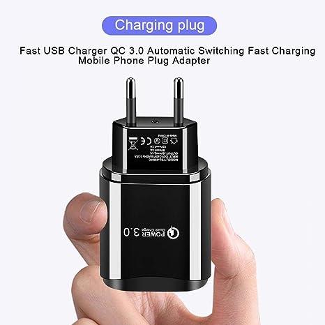 Nrkin Cargador USB Rápido, Adaptador de Enchufe para ...