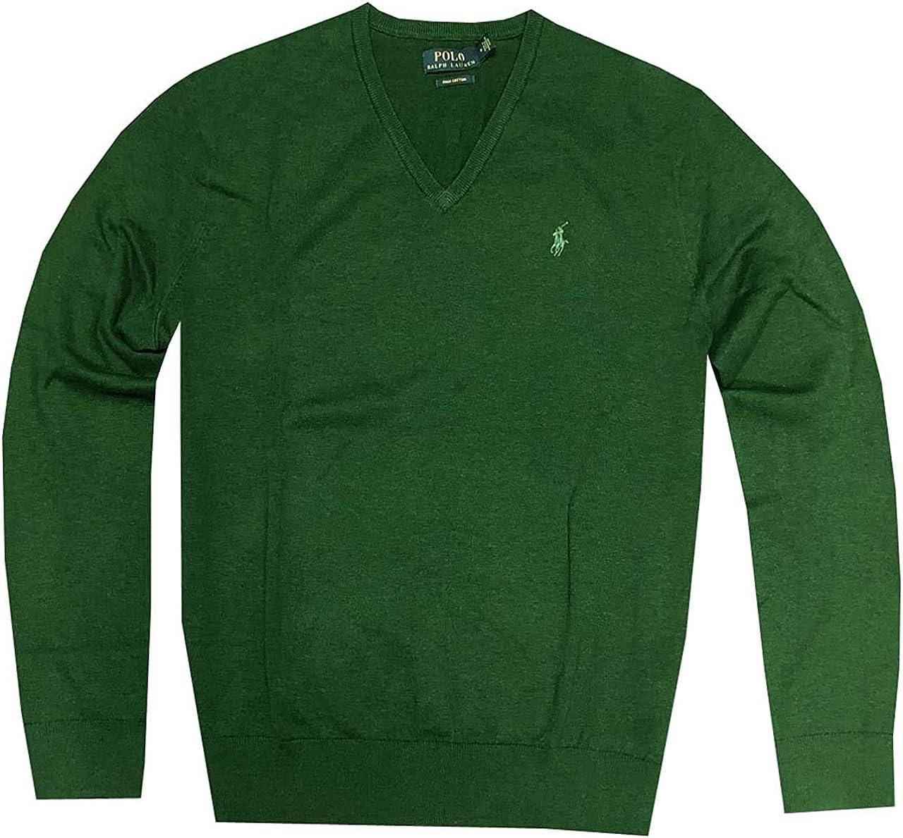Polo Ralph Lauren Mens Big /& Tall Pima Cotton V-Neck Sweater