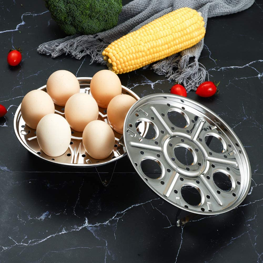 Home /& Kitchen Canning Rack with Polished Edges Stainless Steel Detachable Egg Steamer Rack Holds 7 Eggs for 5//6//8 Quart