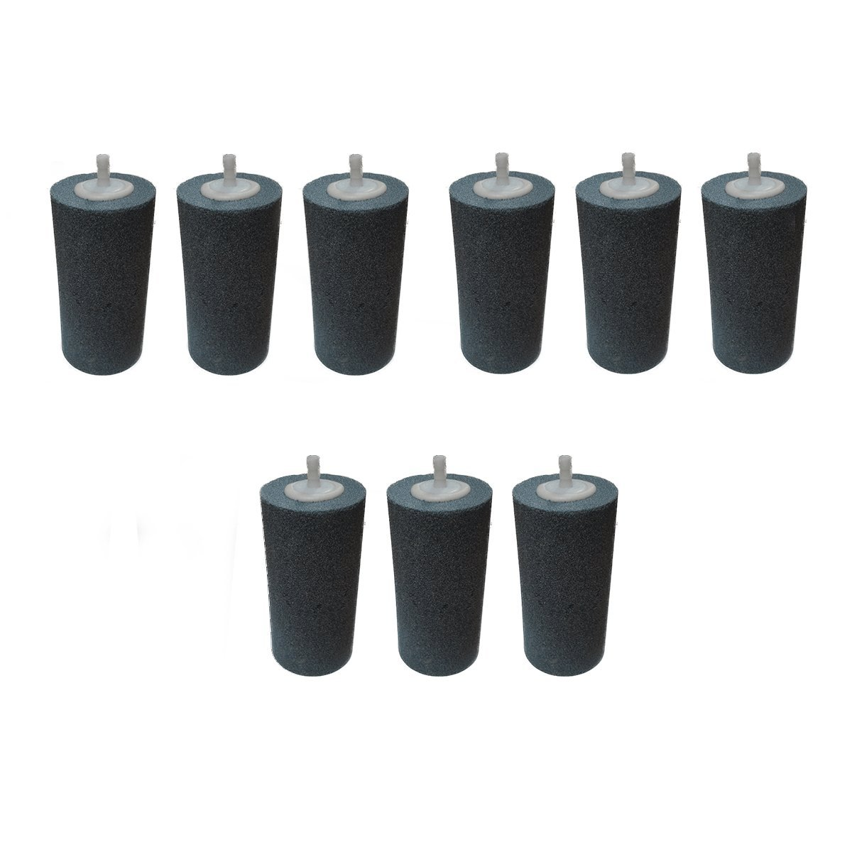 Pack of 9 Pond Airstones Tall Cylinder 50 x 100mm Pisces