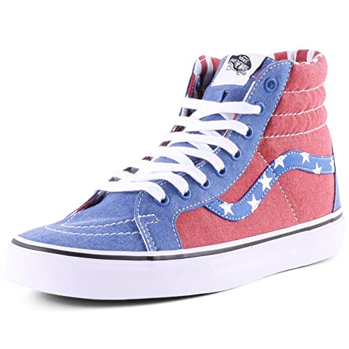 25b03c70cd Vans Adult U Sk8-hi Reissue White Red Blue 4.5 Unisex