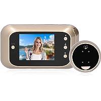 Video-deurbel Draadloos, Ring Video Doorbell met 3 Inch HD-scherm 125 ° Groothoekcamera en Nachtzichtfunctie, Digitale…