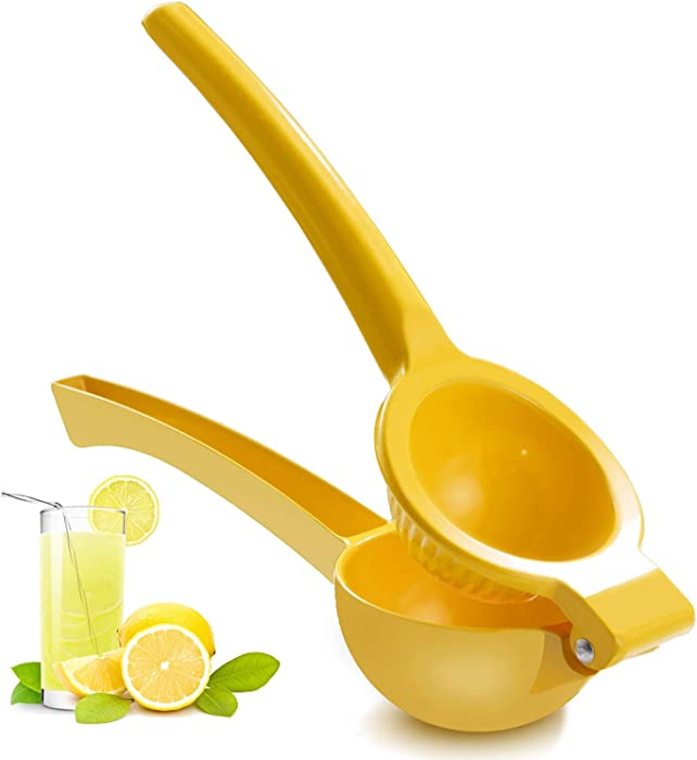 ZEYUAN Manual Juicer Citrus Lemon Squeezer,Fruit Juicer Lime Press Metal,Professional Hand Juicer Kitchen Tool(yellow)
