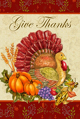 Toland Home Garden Thankful Turkey 28 X 40 Inch Decorative Give Thanks Harvest Thanksgiving House Flag Multicolor 1010105 Buy Online In Saint Lucia At Saintlucia Desertcart Com Productid 33614925