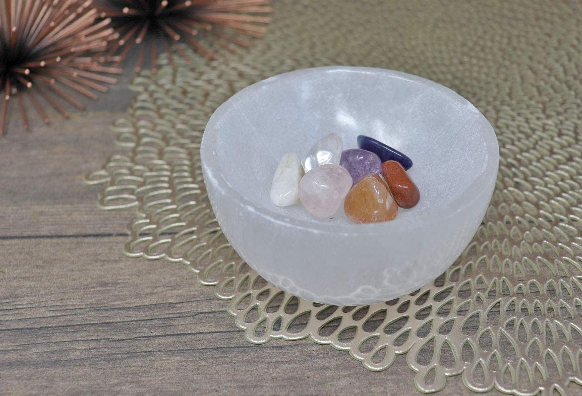 Cleansing Selenite Bowl by Crystal Hideaway