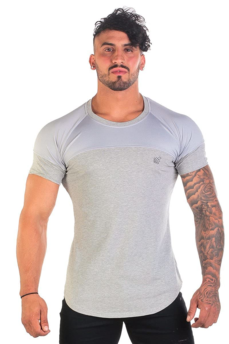 Jed North Men's Performance Mesh Bodybuilding Workout T-Shirt