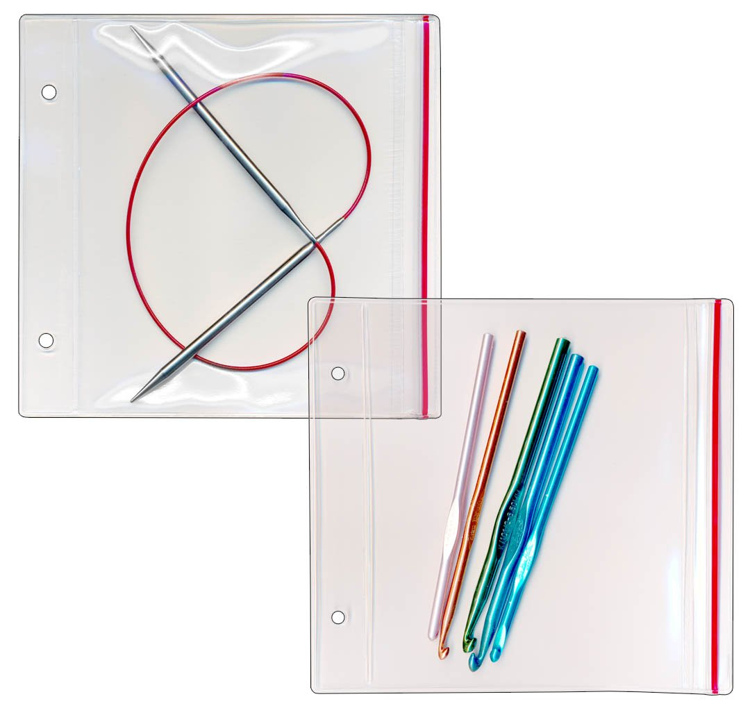 StoreSMART - Zipper Case for your Circular Knitting Needles - 100-Pack - 6 1/2'' x 5'' - R2803-KNIT-100 by STORE SMART (Image #2)