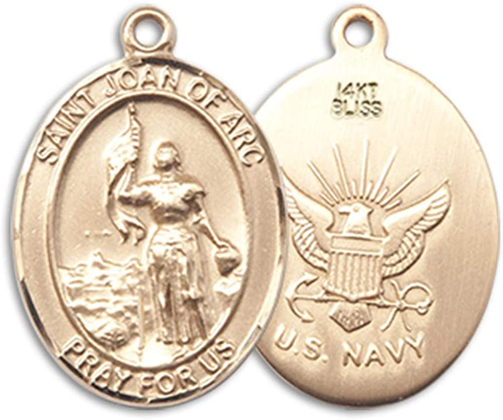 14kt Gold St Joan Of Arc//Navy Medal Patron Saint Soldiers//France 1//2 x 1//4