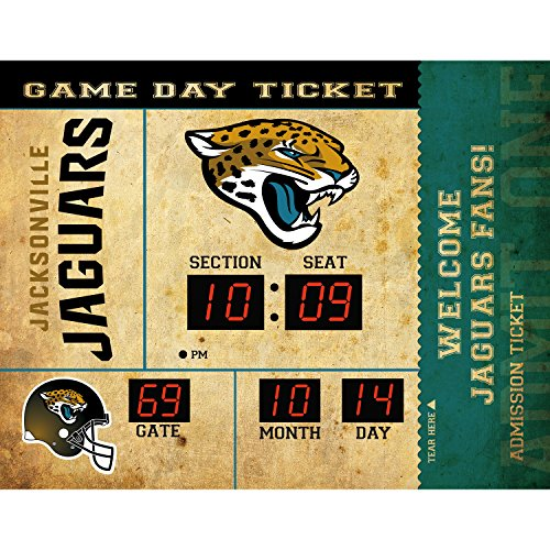 Evergreen NFL Jacksonville Jaguars 14X19 Scoreboard, Team Colors, One Size ()