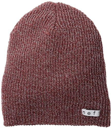 Beanie Maroon Knit Reversible (NEFF Women's Daily Sparkle Beanie, Maroon, One Size)