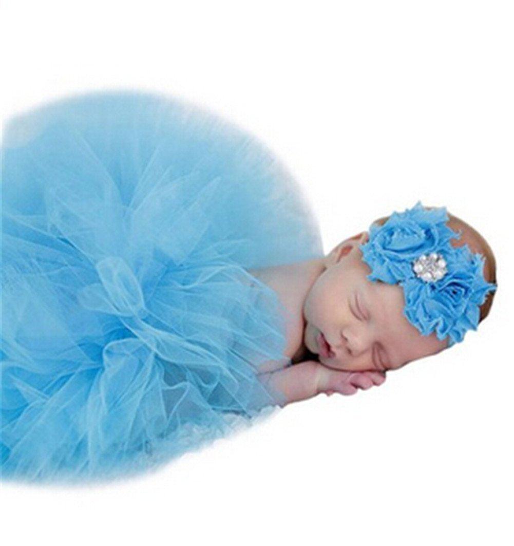 Unbekannt josep. H Fotografie Requisiten für Neugeborene Mädchen, mit Stirnband Taufe Geschenk-Set rose josep.h