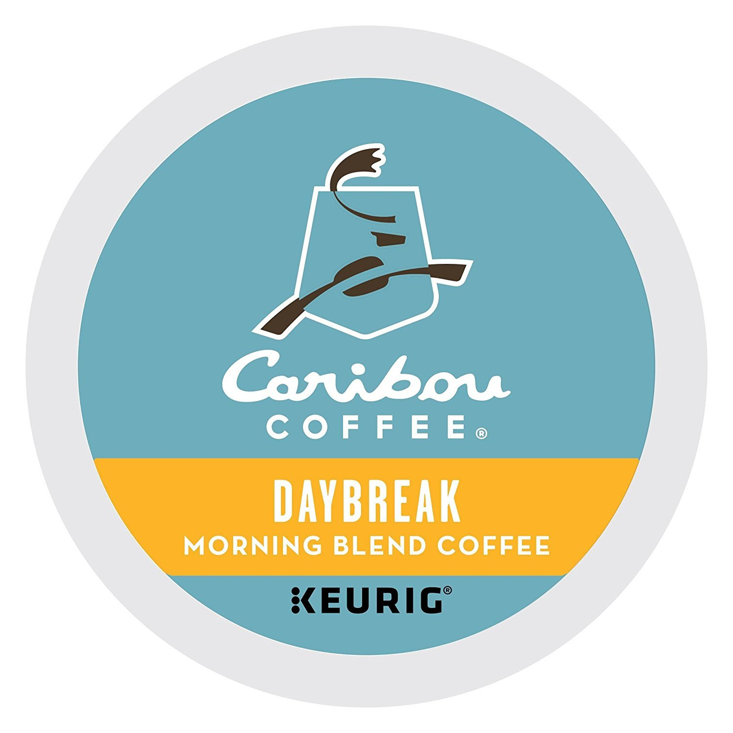 Caribou Coffee Daybreak Morning Blend, K-Cups for Keurig Brewers, 96-Count